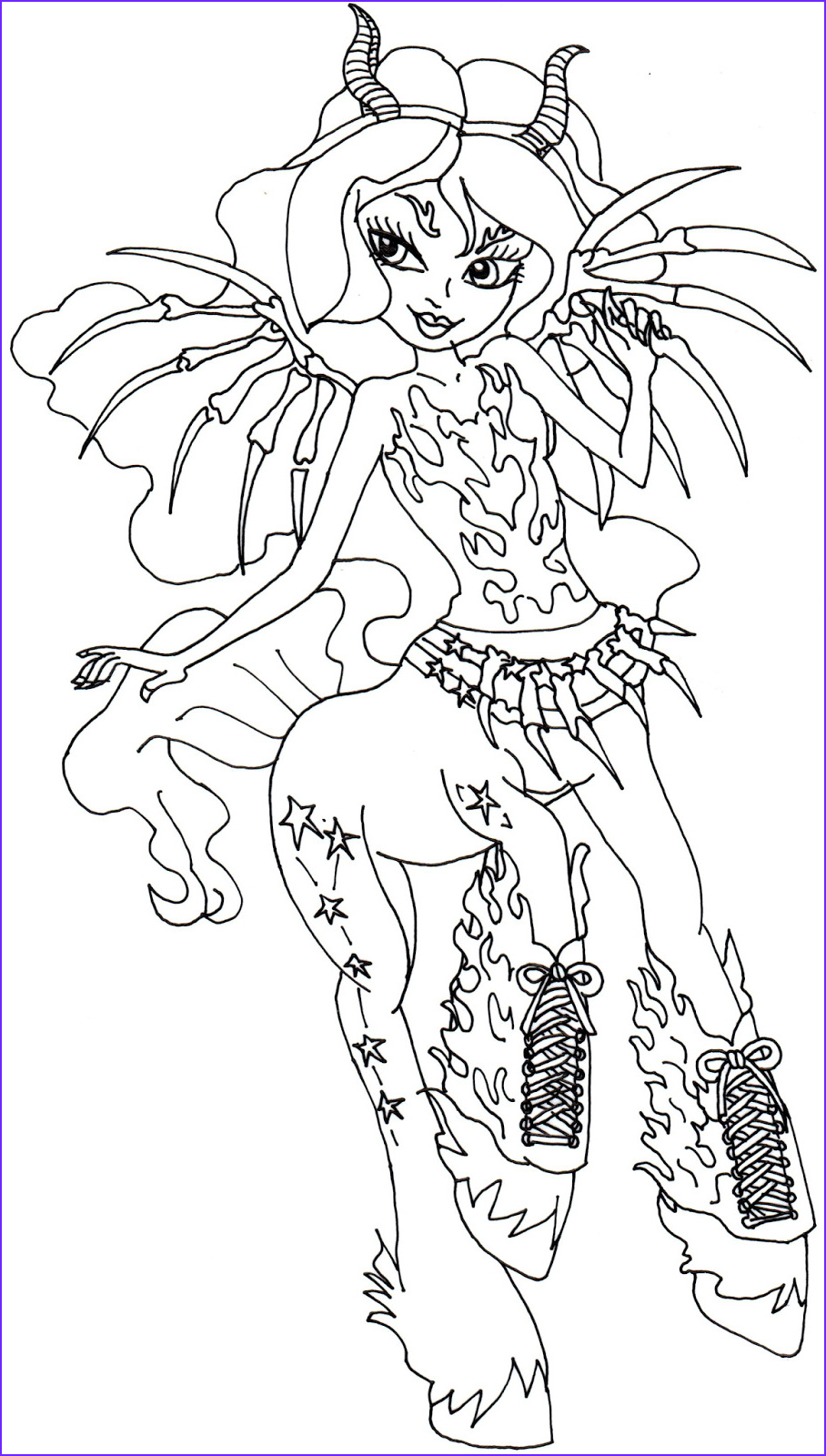 aery evenfall monster high coloring page