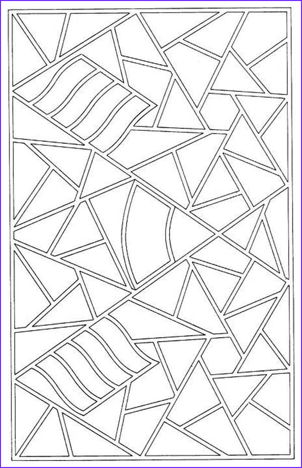 mosaic patter coloring page