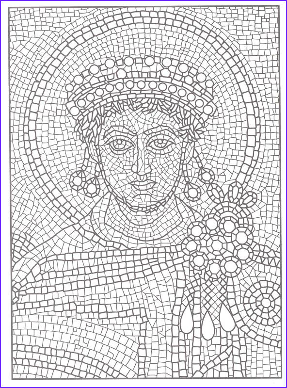 Printable Mosaic Coloring Page New Collection Printable Mosaic Coloring Pages For Adults