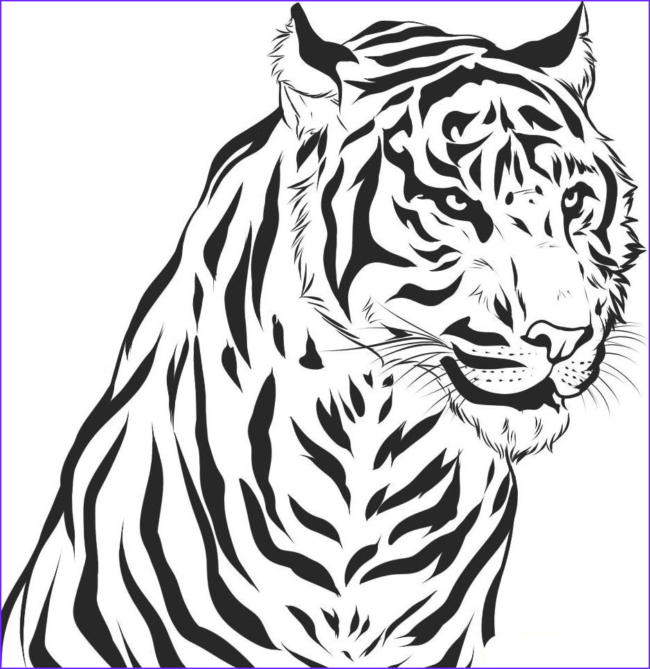 Printable Tiger Coloring Page New Gallery Free Printable Tiger Coloring Pages For Kids