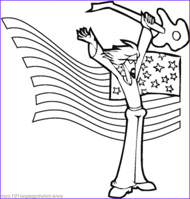 4965 rock star coloring page