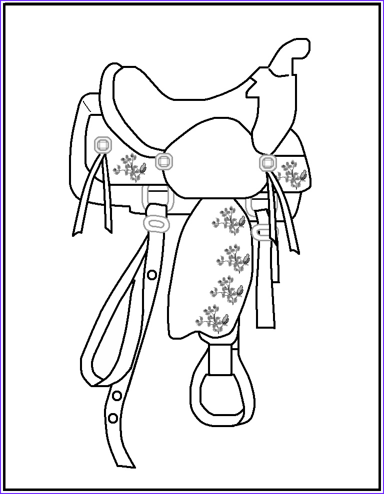 rodeo coloring pages
