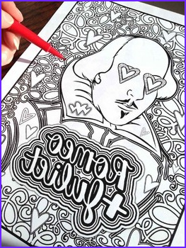 Romeo Juliet Shakespeare Coloring Pages