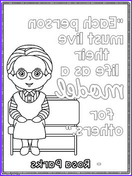 Martin Luther King Jr Rosa Parks Coloring Page FREEBIE
