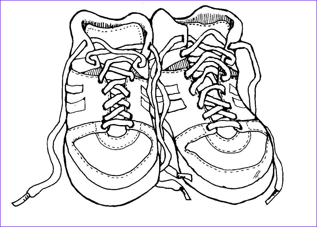 Running Shoe Coloring Page Unique Photos Outline A Running Shoe Clipart Best
