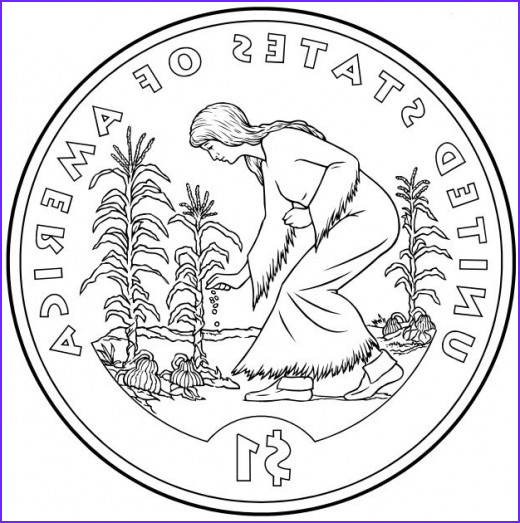 Sacagawea Coloring Page Beautiful Photography Free Native American Coloring Pages Of Us Mint E Dollar
