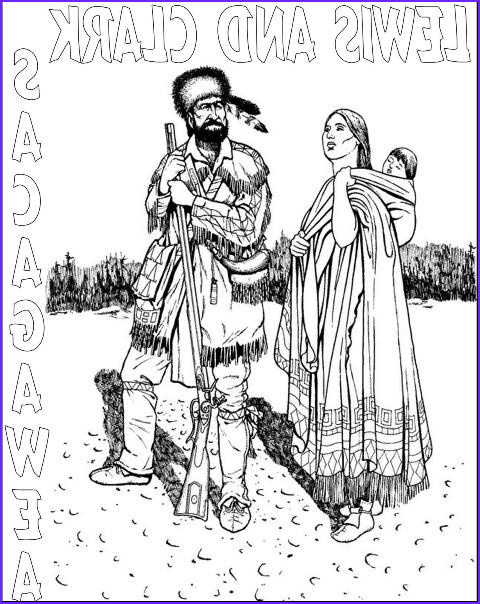 Sacagawea Coloring Page Cool Gallery Pocketful Of Treasures Native American Unit Study and