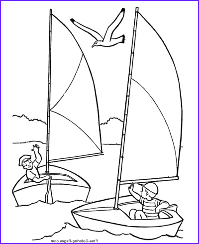 Sailboat Coloring Page Beautiful Images Boat Coloring Pages