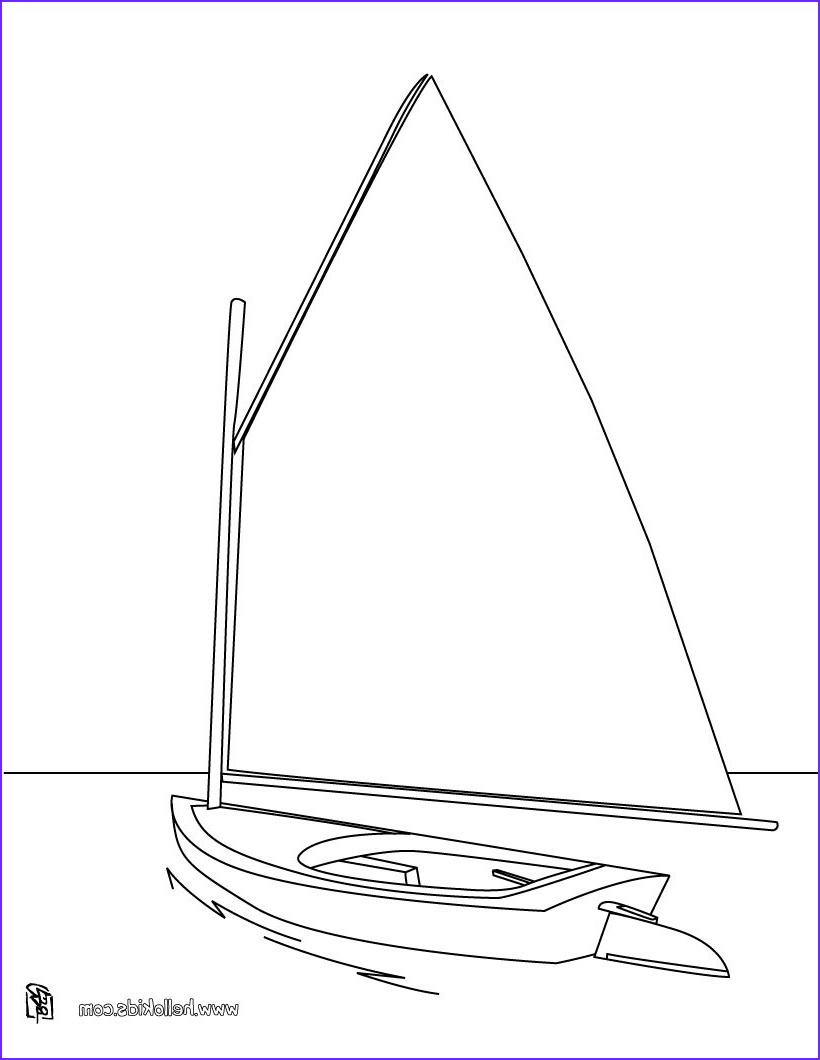 Sailboat Coloring Page Elegant Gallery Sailboat Coloring Pages Hellokids