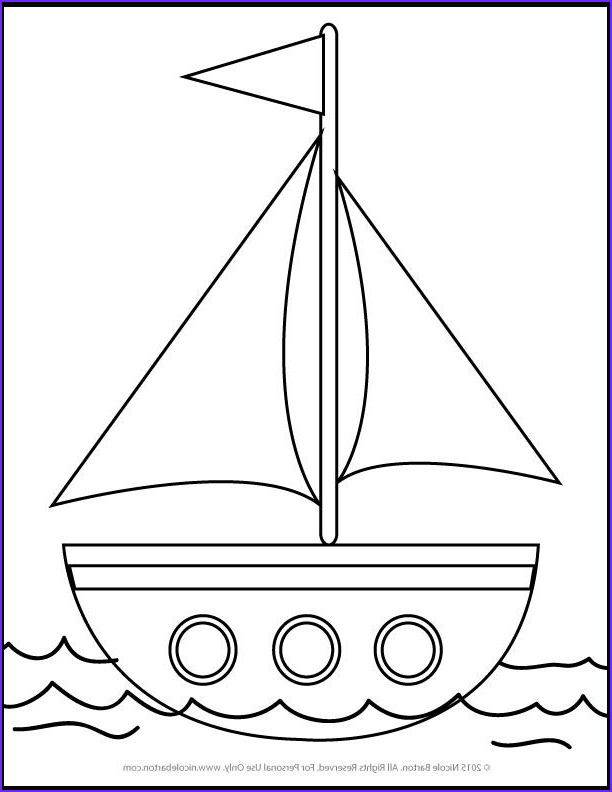 Sailboat Coloring Page Unique Gallery Free Sailboat Printable Coloring Pages for Kids
