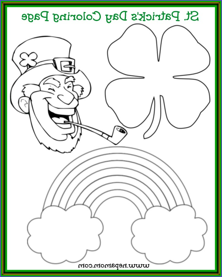 Saint Patrick Coloring Beautiful Images St Patrick S Day Coloring Page Good Food and Family Fun
