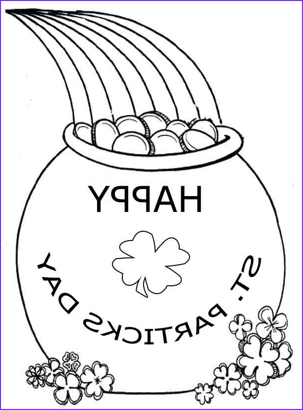 Saint Patrick Coloring Cool Stock St Patricks Day Coloring Pages