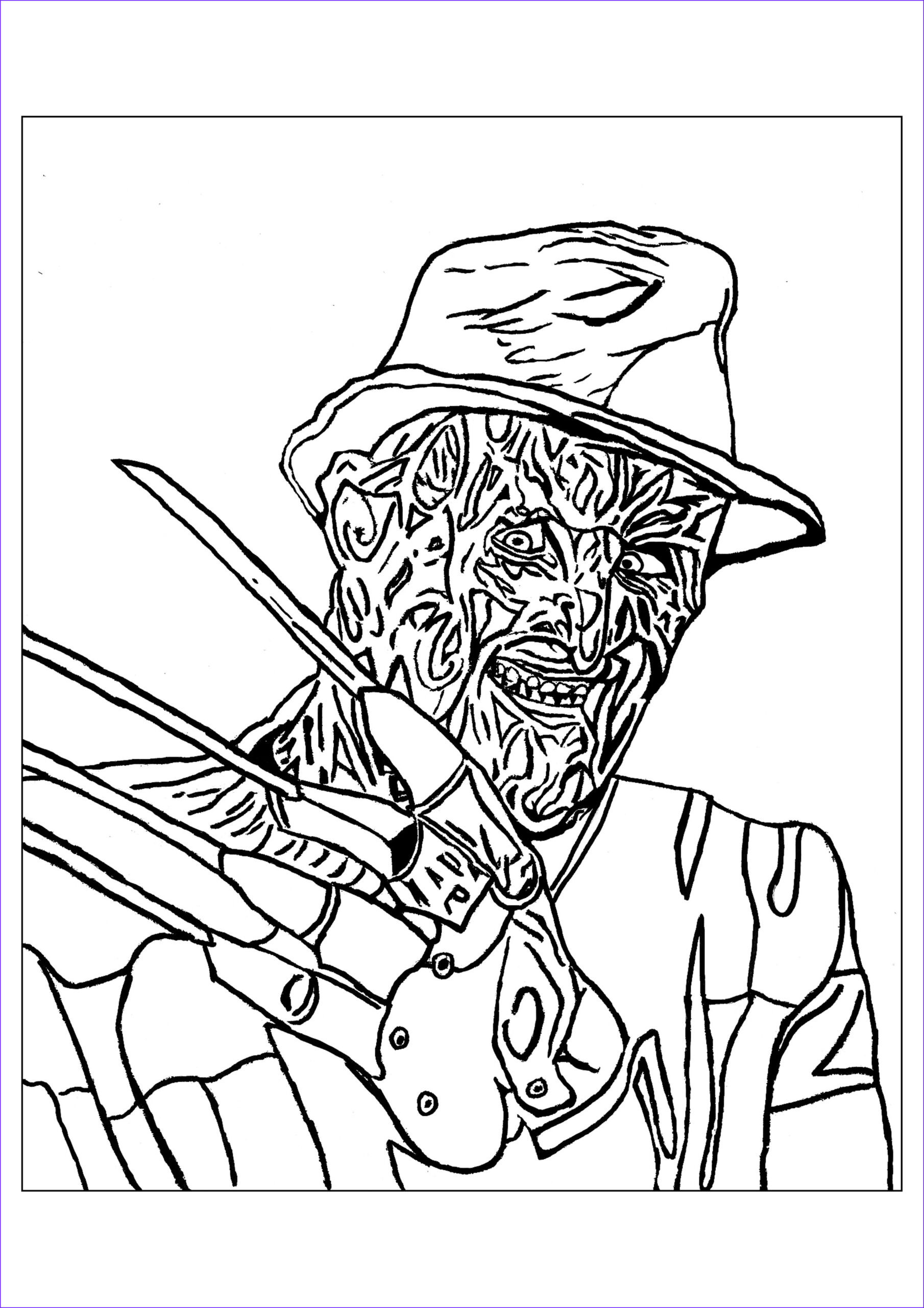 Scarey Coloring Page Cool Photos Creepy Coloring Pages for Adults