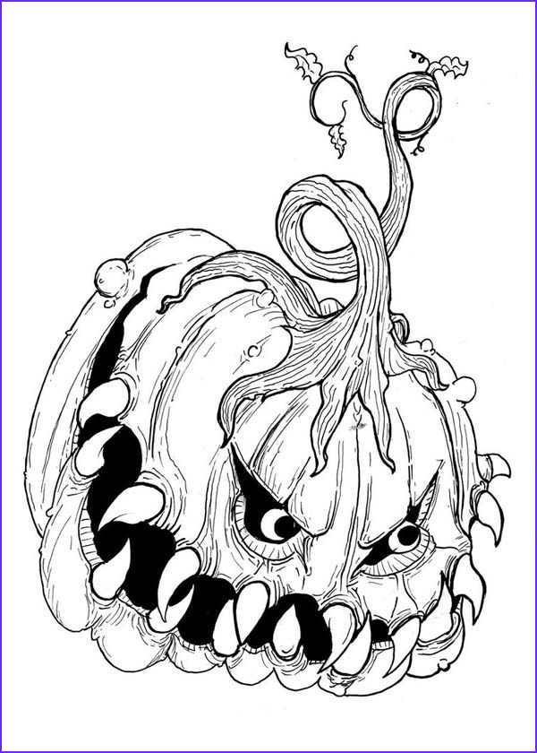 hard halloween coloring pages for adults
