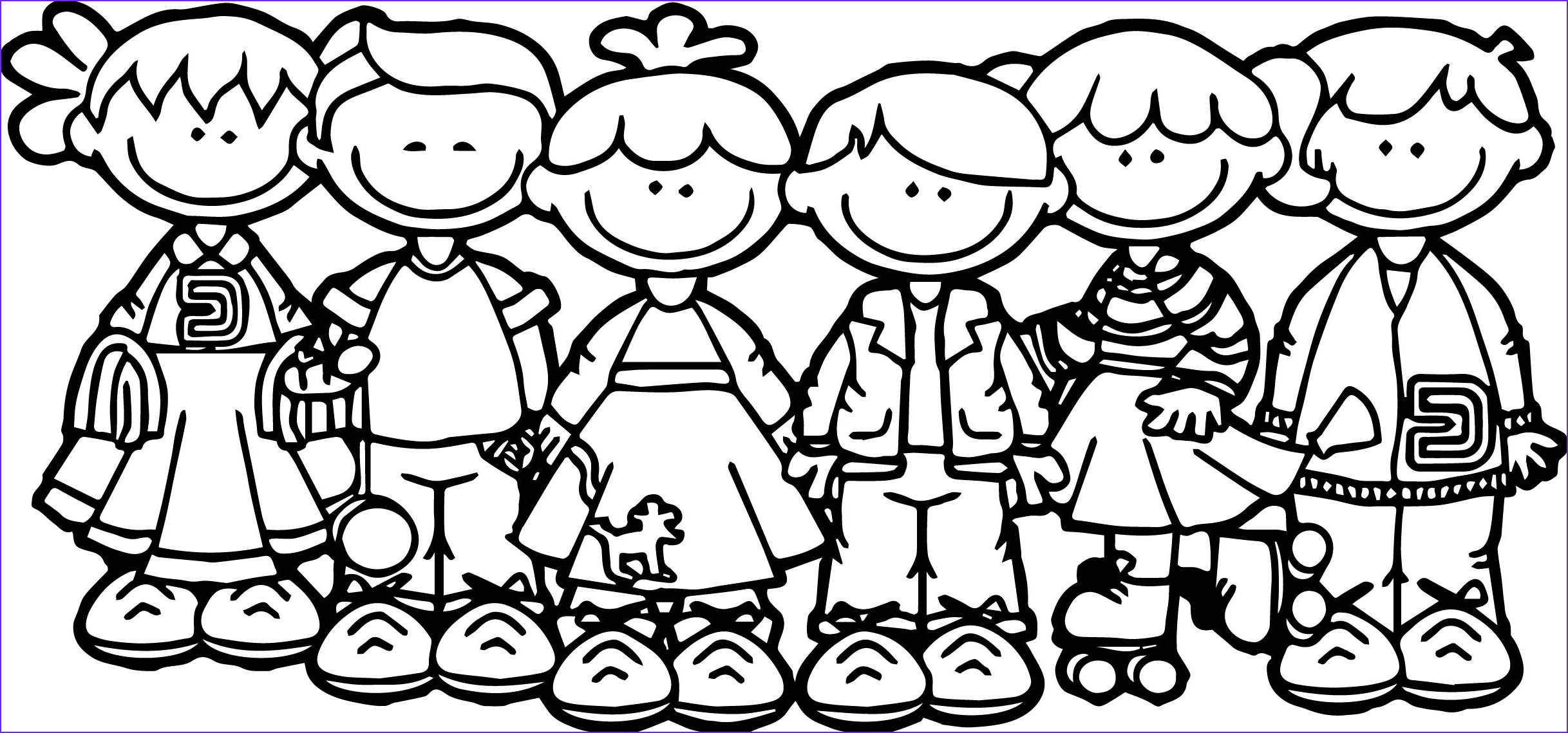 100 days school children coloring page