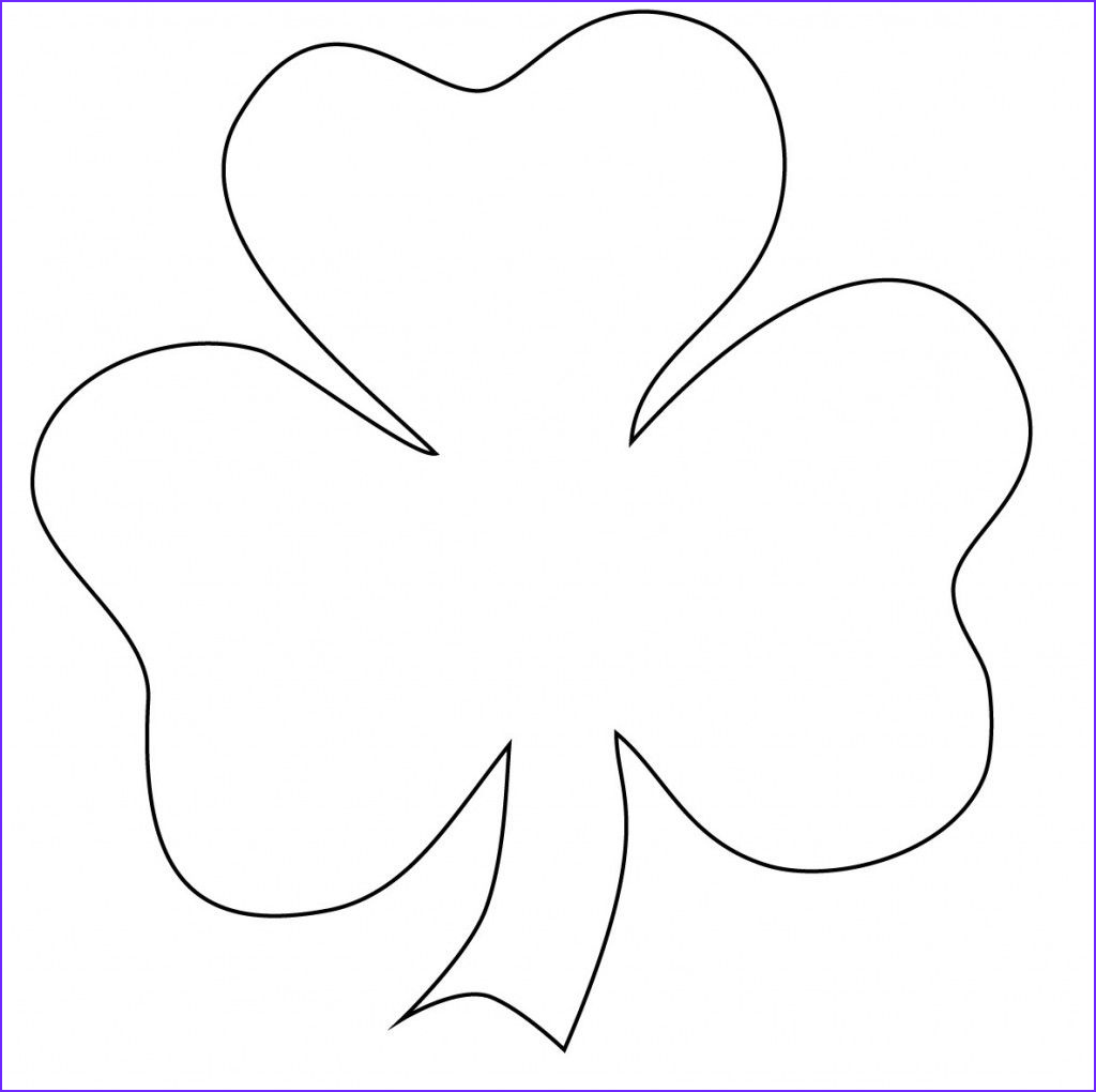 Shamrock Coloring Picture Cool Photography Free Printable Shamrock Coloring Pages for Kids