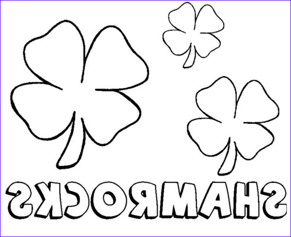 Shamrock Coloring Picture Luxury Gallery 20 Free Printable Shamrock Coloring Pages
