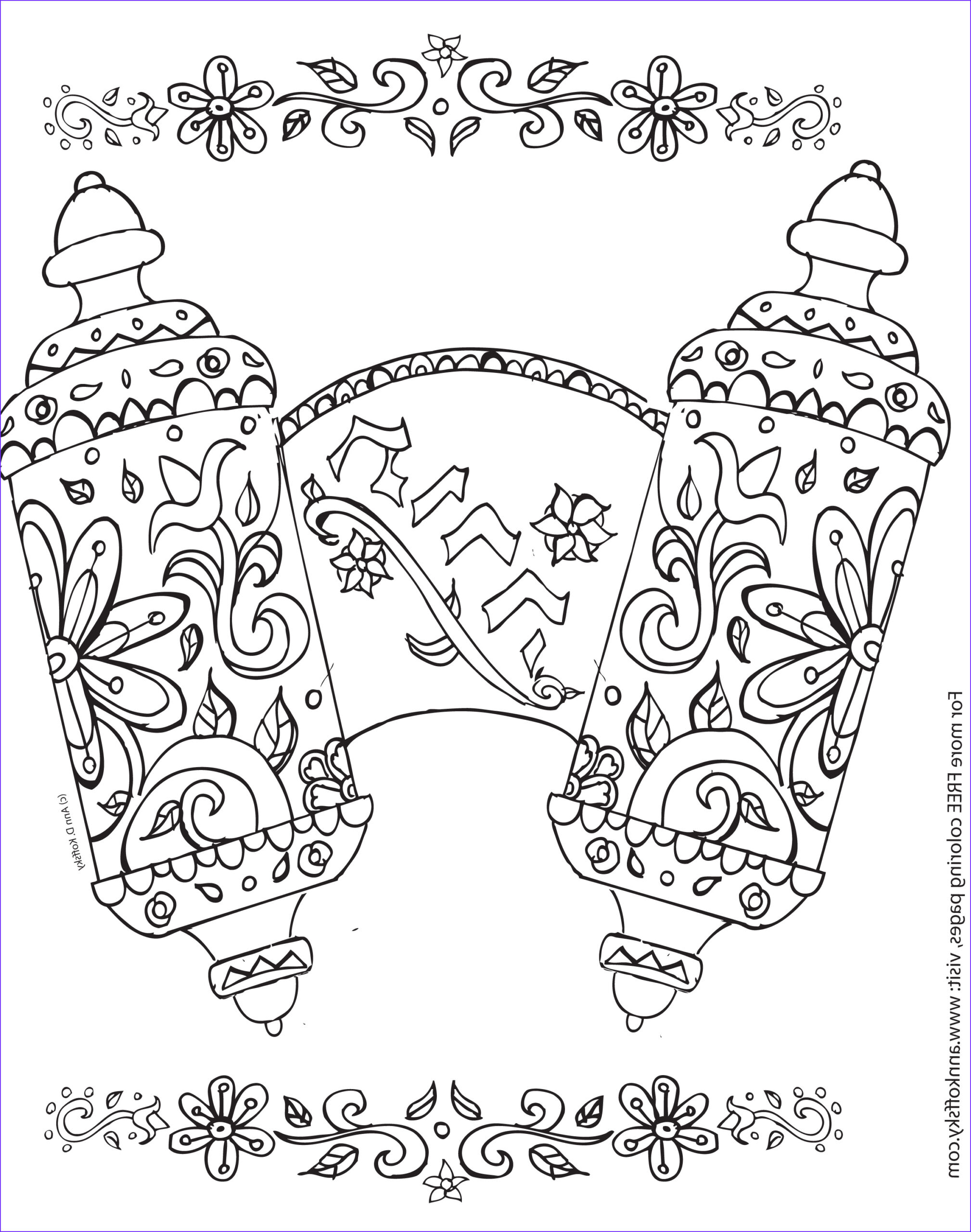 shavuot coloring page