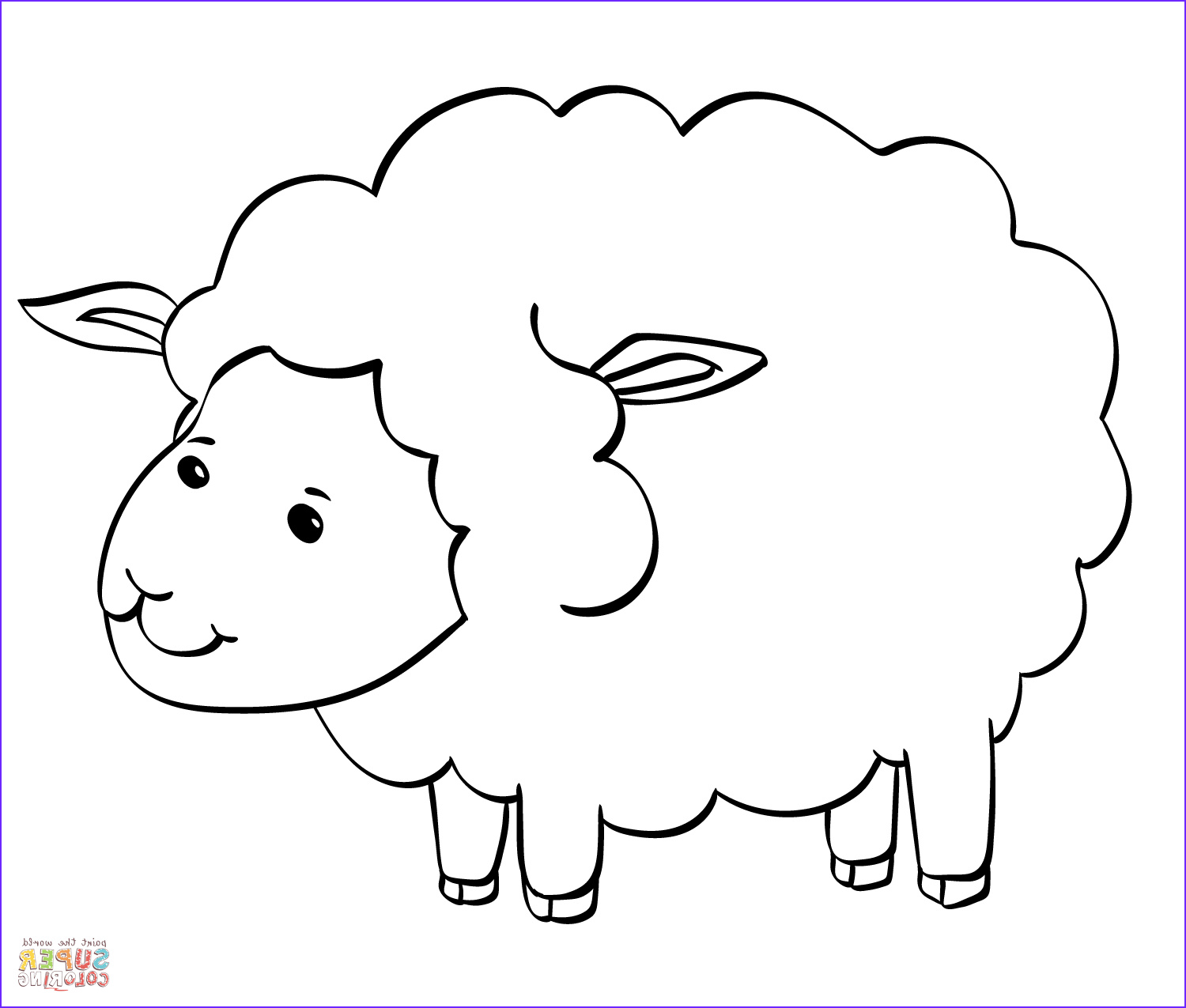 Sheep Coloring Sheet Best Of Collection Cute Sheep Coloring Page