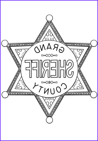 Sheriff Coloring Page Elegant Photography Sheriff Badge Coloring Page