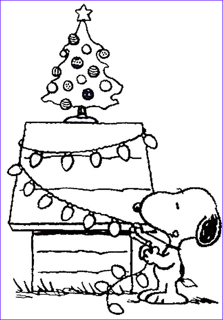 Snoopy Christmas Coloring Page Beautiful Image Free Printable Charlie Brown Christmas Coloring Pages For