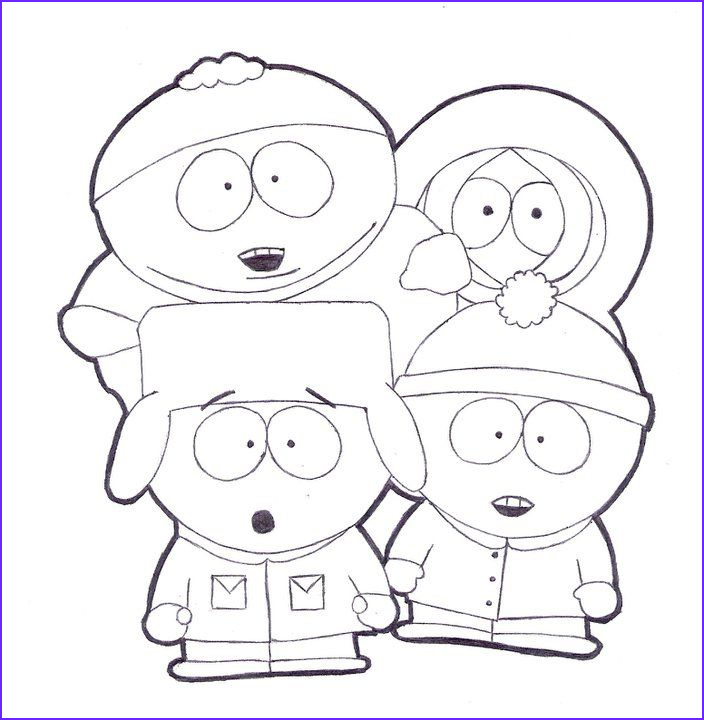 South Park Coloring Book Awesome Photos south Park Coloring Pages to Print