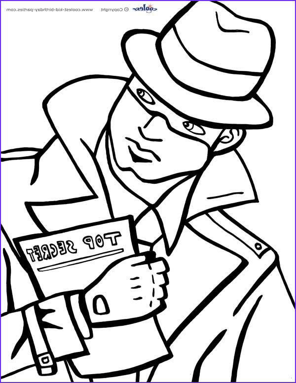 Spy Coloring Page Awesome Photos Printable Spy Detective Coloring Page 2 Coolest Free