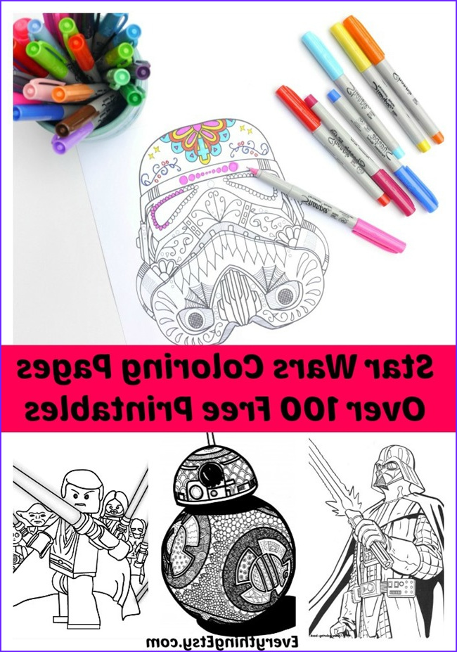 100 free printable star wars coloring pages for adults and kids