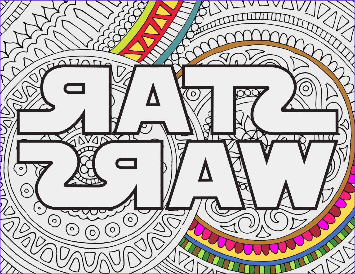 star wars coloring pages star wars logo