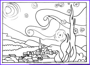"""Starry Night Coloring Page Unique Photography My Three Seeds Of Joy Homeschool Van Gogh """"starry Night"""""""