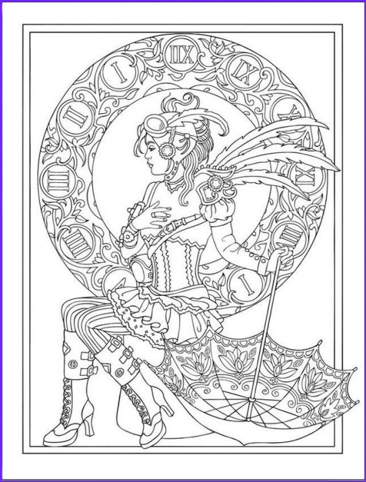Steampunk Coloring Page for Adults New Photos Printable Steampunk Coloring Pages Coloring Pages