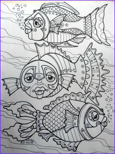 Steampunk Coloring Page for Adults Unique Collection 7 Best Drawing Steampunk Disegni Zentangle Doodle