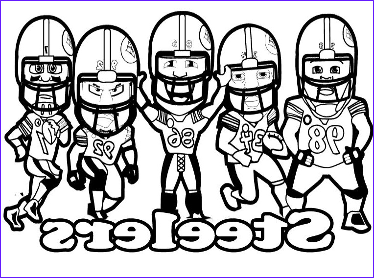Steeler Logo Coloring Page Cool Photos Pittsburgh Steelers Printable Football Steelers Coloring