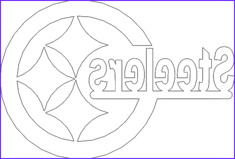 11 Beautiful Stock Of Steeler Logo Coloring Page