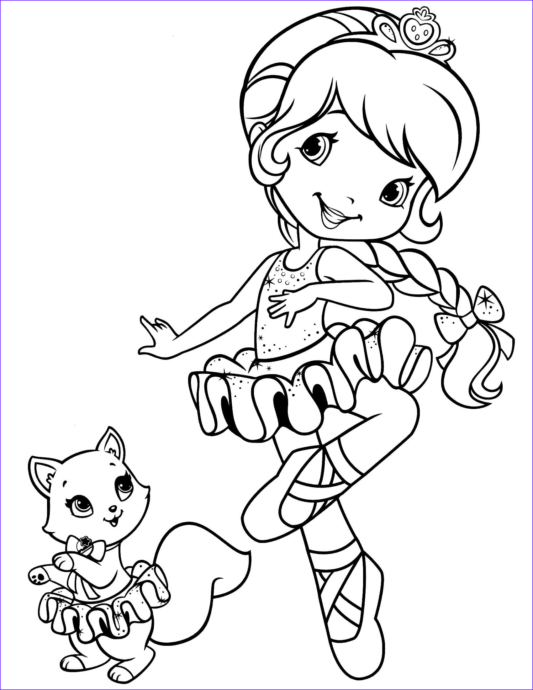 strawberry shortcake coloring page 35