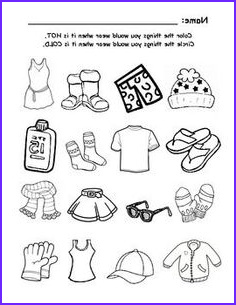 Summer Clothes Coloring Unique Photos Summer Clothing Color the Items that You Would Wear In