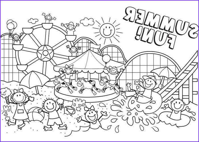Summer Coloring Page Printable Luxury Gallery Summer Fun Coloring Pages