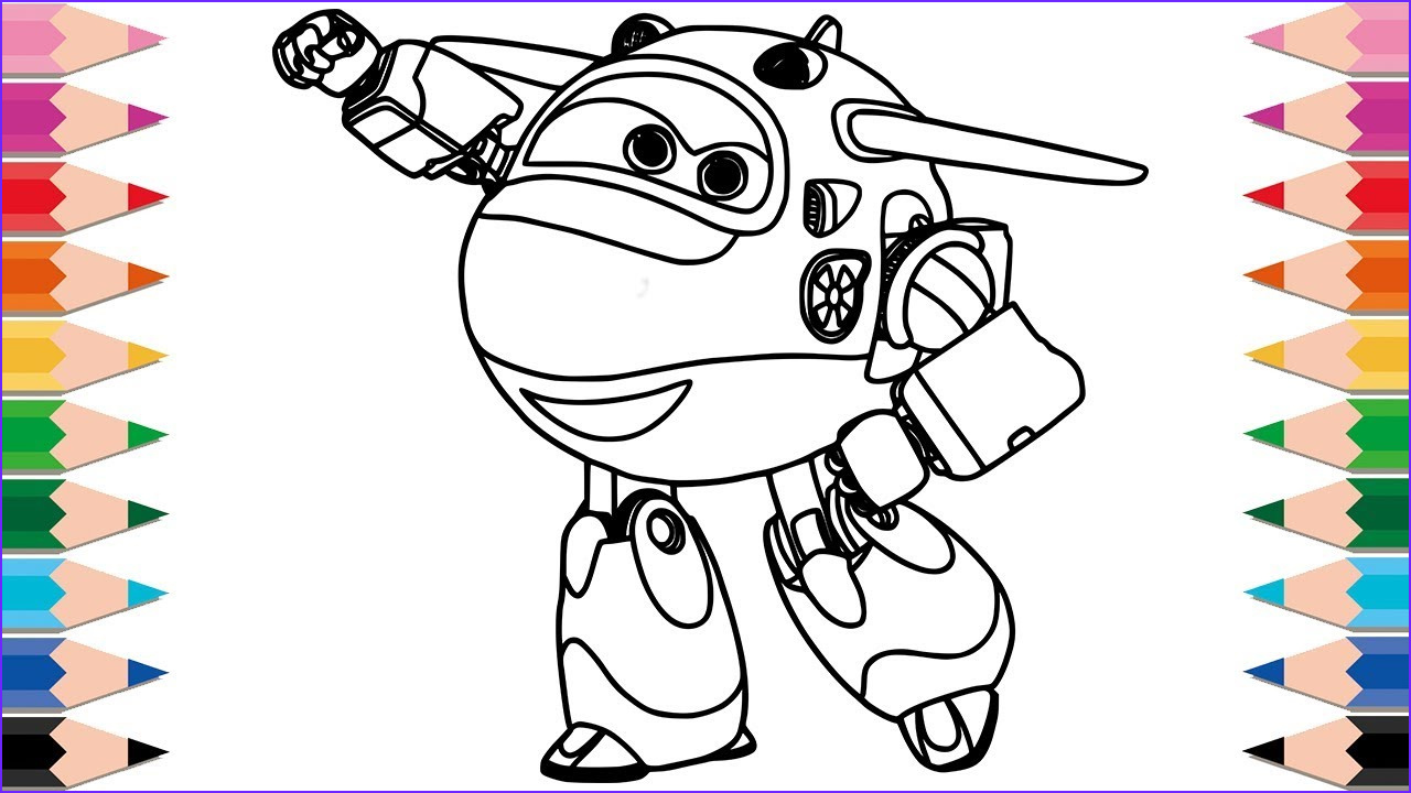 Super Coloring Page Unique Photos How to Draw Mira Super Wings for Kids Learn Colors Drawing
