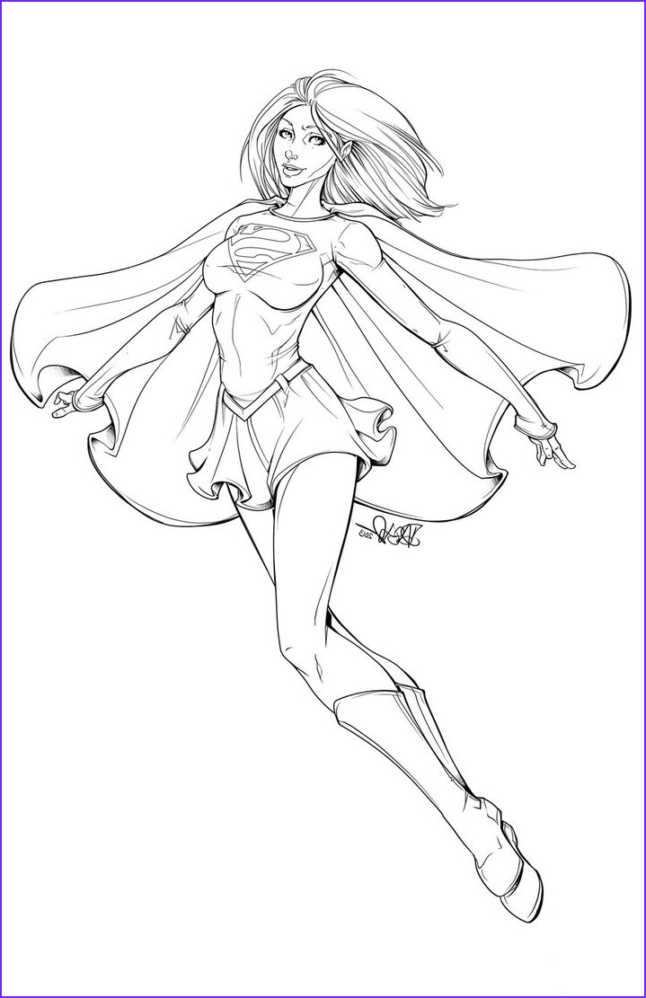 Supergirl Lineart 2013