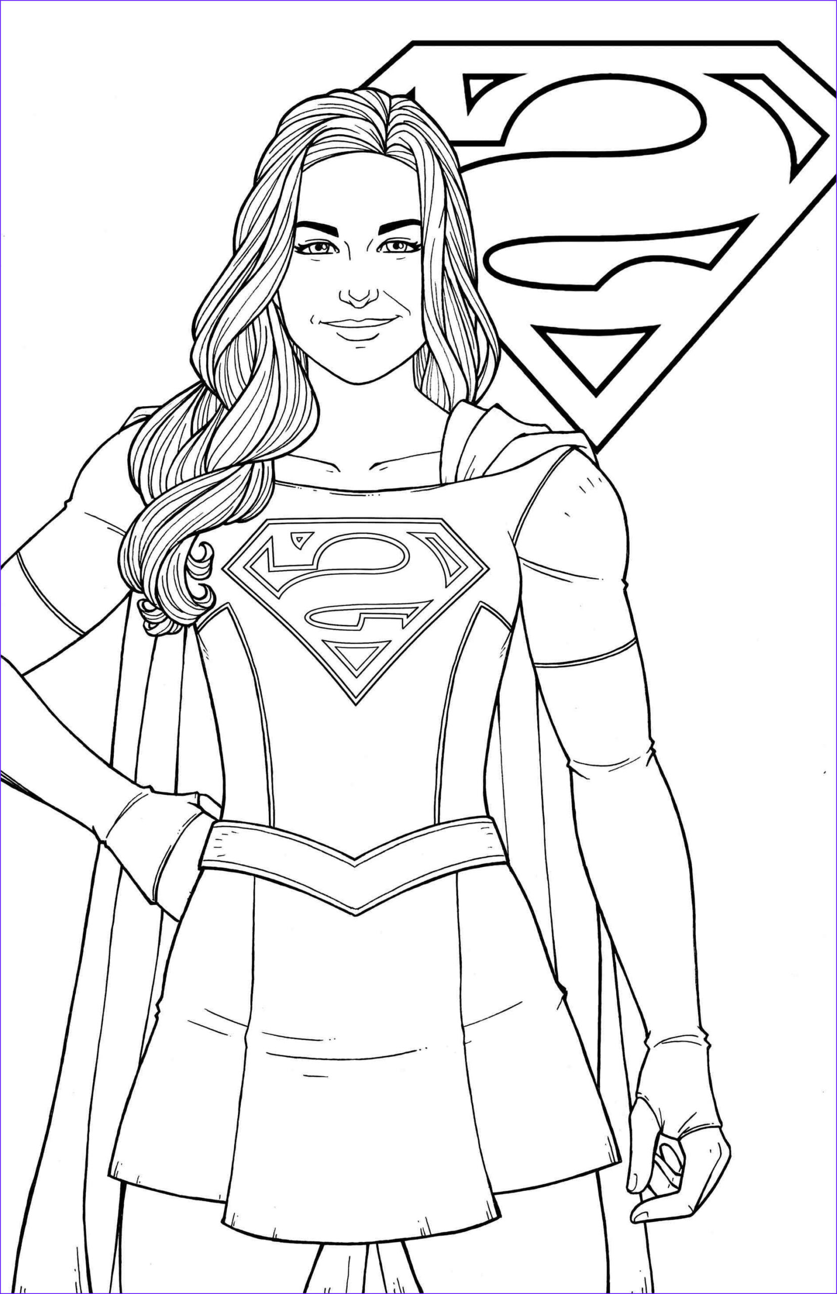 Super Girl Coloring Page Elegant Collection Free Printable Supergirl Coloring Pages Logo and Wonder