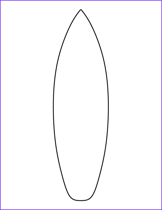 Surfboard Coloring Page Elegant Collection Surfboard Pattern Use the Printable Outline for Crafts