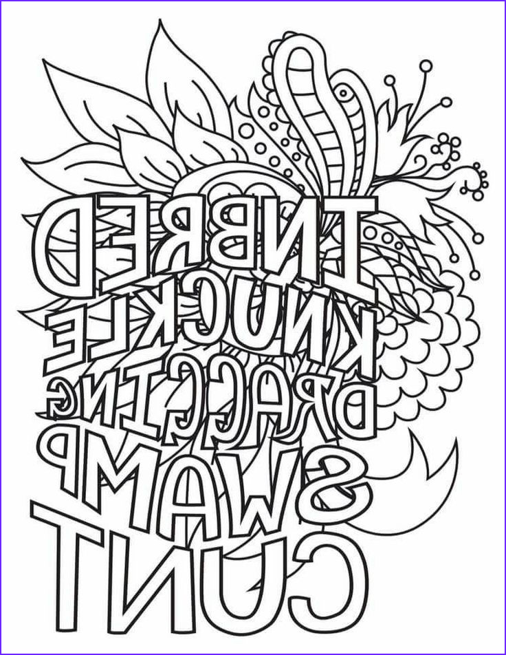 Swear Coloring Book Unique Photos Swear Word Coloring Pages at Getcolorings