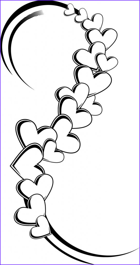 coloring pages of a hearts tattoo designs
