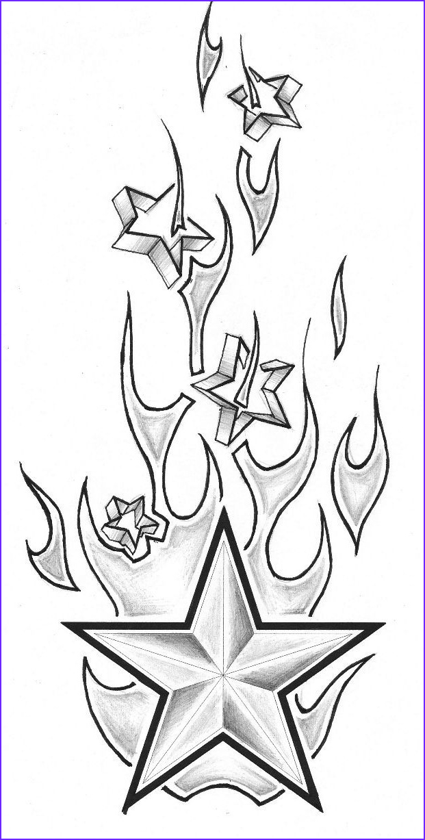flame tattoo design coloring pages