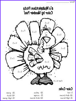 Thanksgiving Math Coloring Page Cool Image Thanksgiving Multiplication 5x S Facts Color By Number
