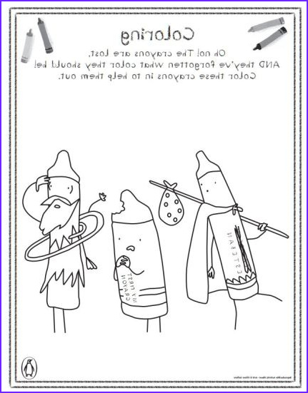 The Day the Crayons Quit Coloring Page Unique Image Drew Daywalt
