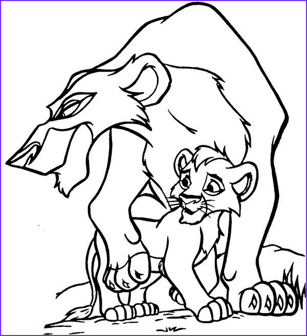 scar and his son the lion king coloring page