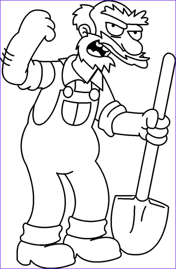 The Simpsons Coloring Page Awesome Collection Free Coloring Pages for Kids Simpsons Coloring Pages