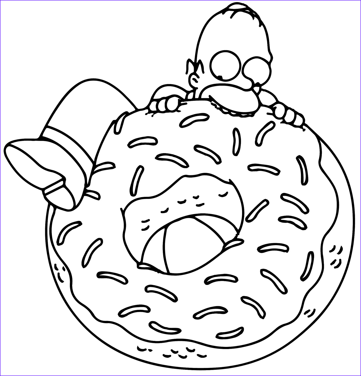 The Simpsons Coloring Page Beautiful Photos Homer Simpson Coloring Page Coloring Home