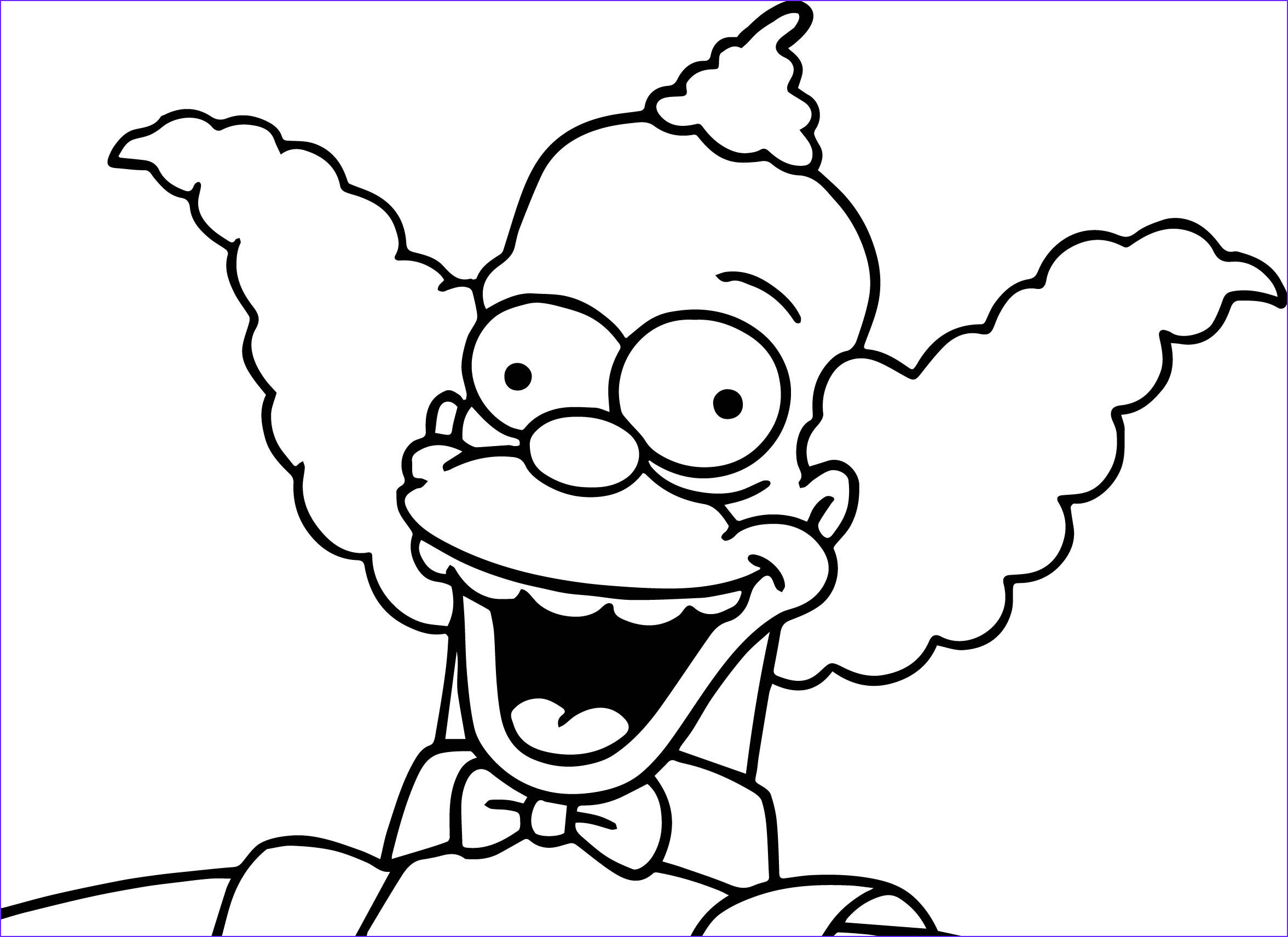 The Simpsons Coloring Page Best Of Photos the Simpsons Krusty Coloring Page